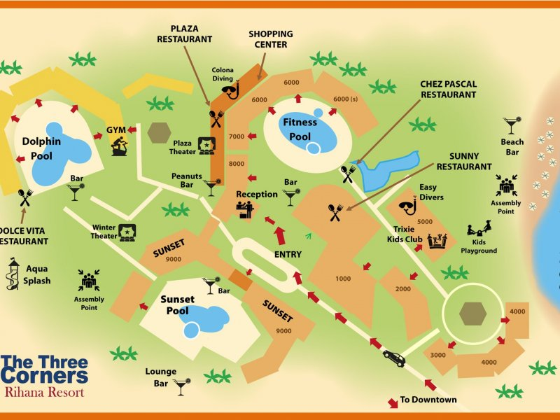 Three Corners Rihana Resort - 9 Popup navigation